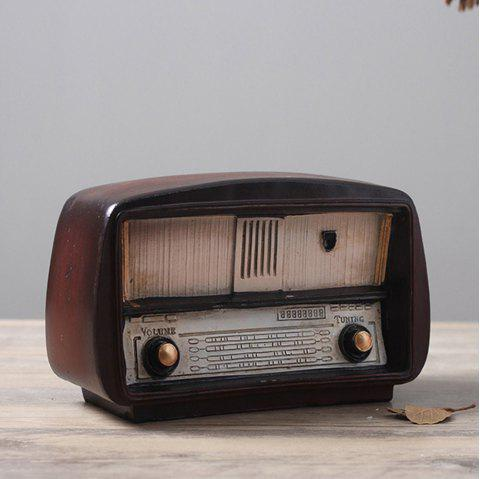 Vintage Old Fashioned Radio Craft Ornaments - BURGUNDY