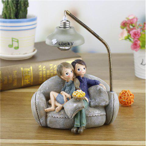 Creative Novelty Home Resin Crafts Night Light Ornaments - LIGHT GRAY