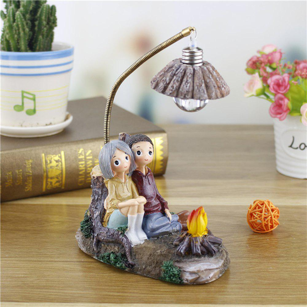 Creative Novelty Home Resin Crafts Night Light Ornaments - MIDNIGHT BLACK