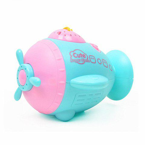 Multi-function Comfort Small Aircraft Baby Projection Story Machine - ELECTRIC BLUE