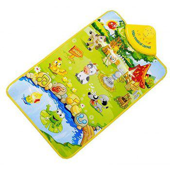 Music Hanging Carpet Happy Farm Pattern and Piano Playing Toy - multicolor B