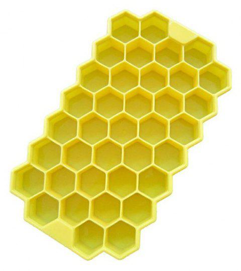Eco-Friendly Cavity Silicone Ice Cube Tray - BRIGHT YELLOW