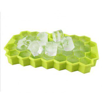 Eco-Friendly Cavity Silicone Ice Cube Tray - GREEN YELLOW