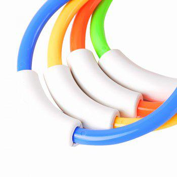 Swimming Pool Diving Toys Plastic Fun Ring 4PCS - multicolor A