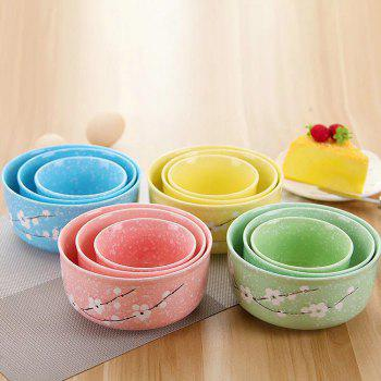 3PCS Insulated Ceramic Lunch Bowls Set - BUTTERFLY BLUE 16*16*7.5