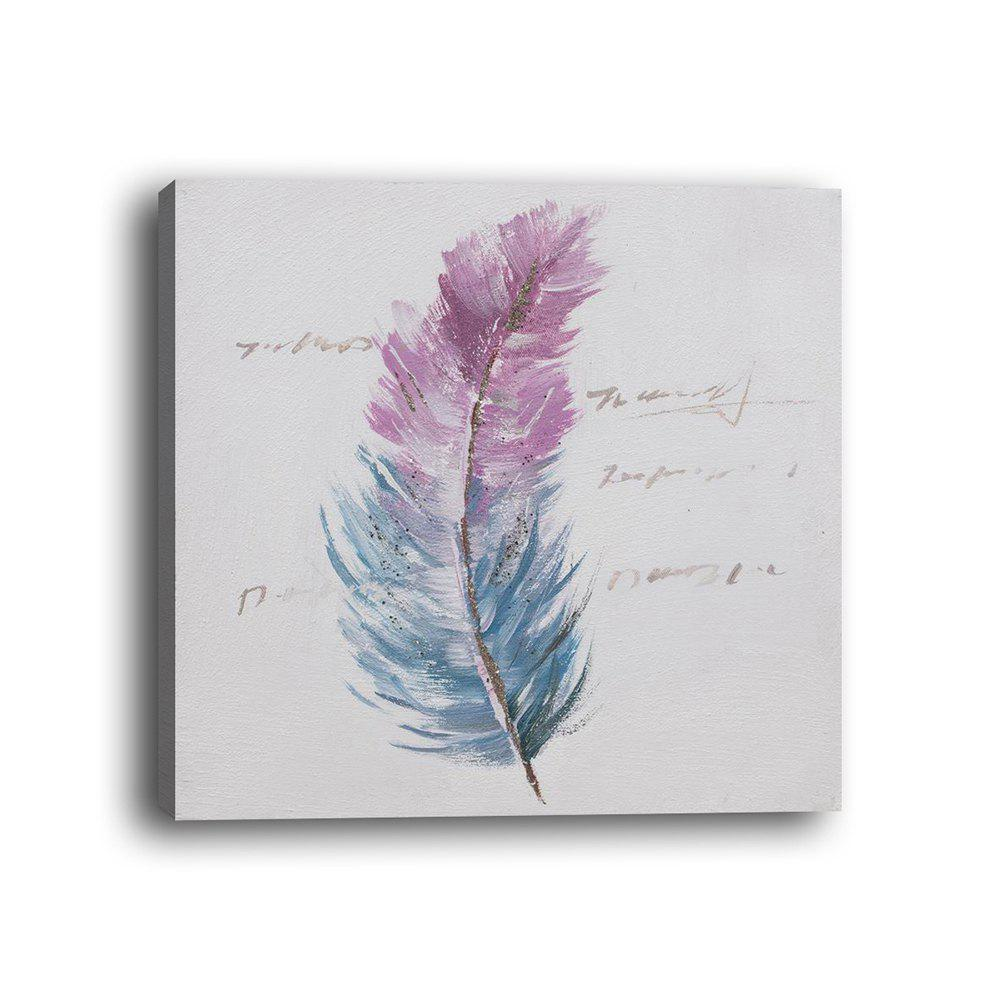Framed Canvas Background Wall Simple Small Fresh Feather Decorations Print