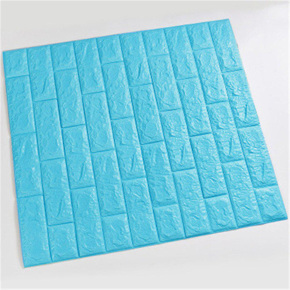 Self-Adhesive Waterproof Collision 3D Stone Brick Wallpaper Home Decorition - BLUE LAGOON