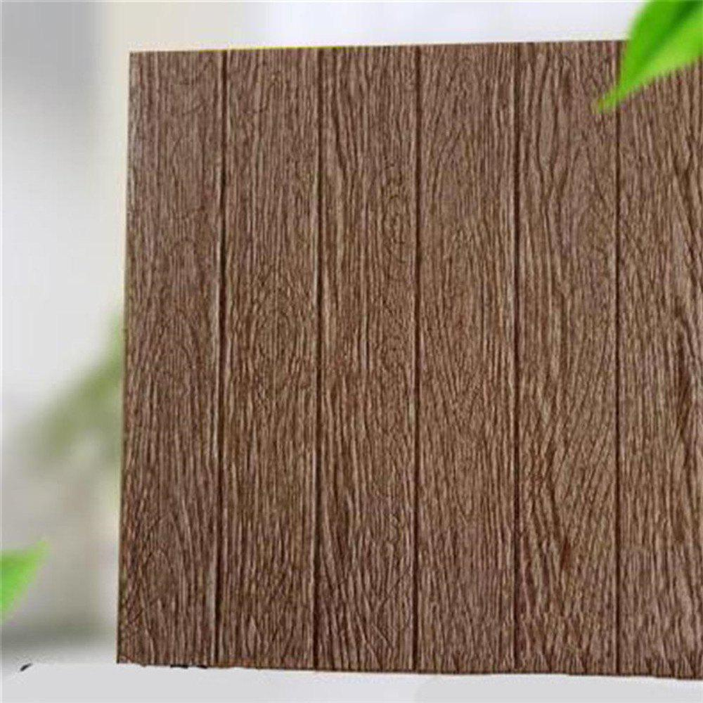 DIY Self Adhesive 3D Wood Grain Waterproof Wall Stickers Home Decor 3m gold silvery brush pvc decorative vinyl self adhesive wallpaper household appliances kitchen cabinet wall stickers home decor