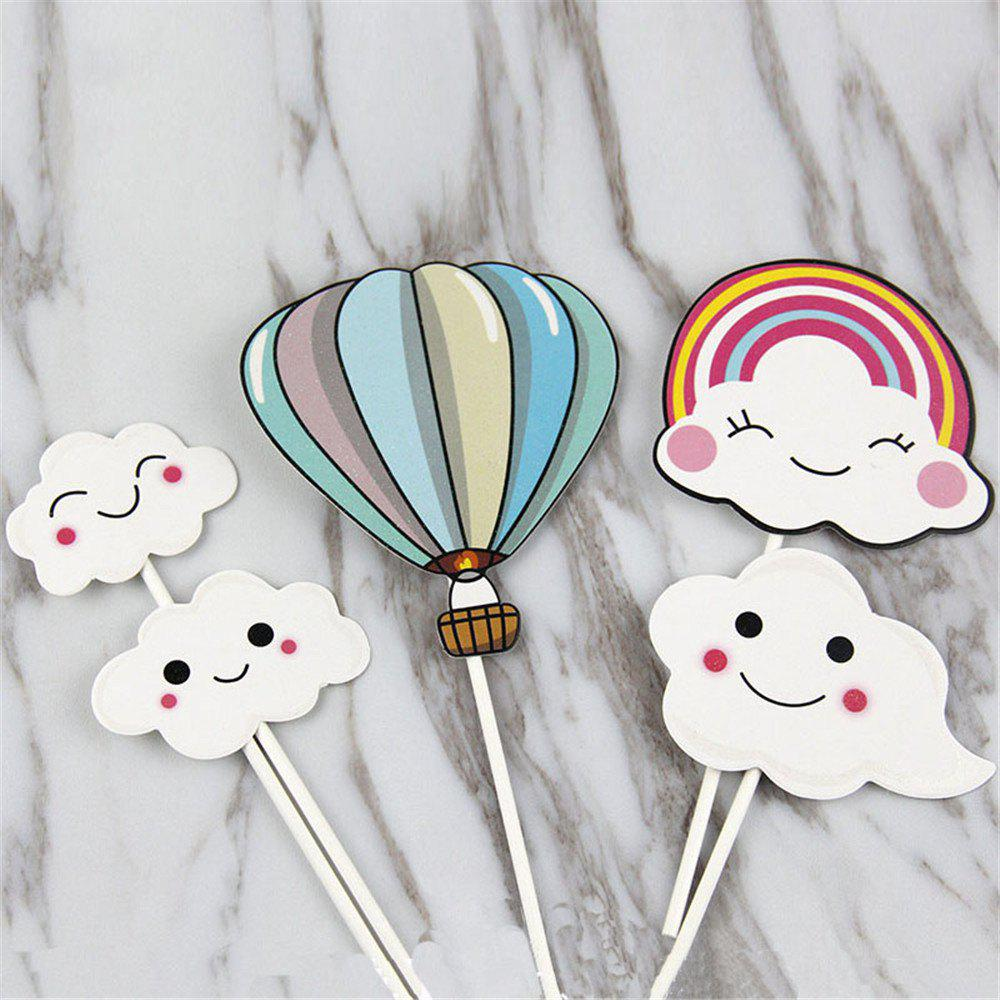 Hot-Air Balloon Rainbow Clouds Cake Flags Birthday/Wedding Decoration wedding cake murder