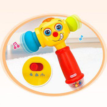 Baby Toys Hammer with Music Lights Electric  Improve Baby Operation Ability - multicolor