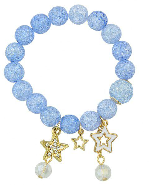 Candy Coloured String Hand Chain Bracelets - LIGHT SKY BLUE