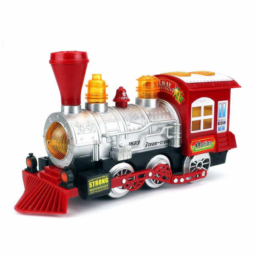 Creative Bubble Blowing Battery Powered Locomotive Music Train Toy with Light ausini building blocks locomotive train railroad conveyance 25111 1008pcs compatible with lego sluban