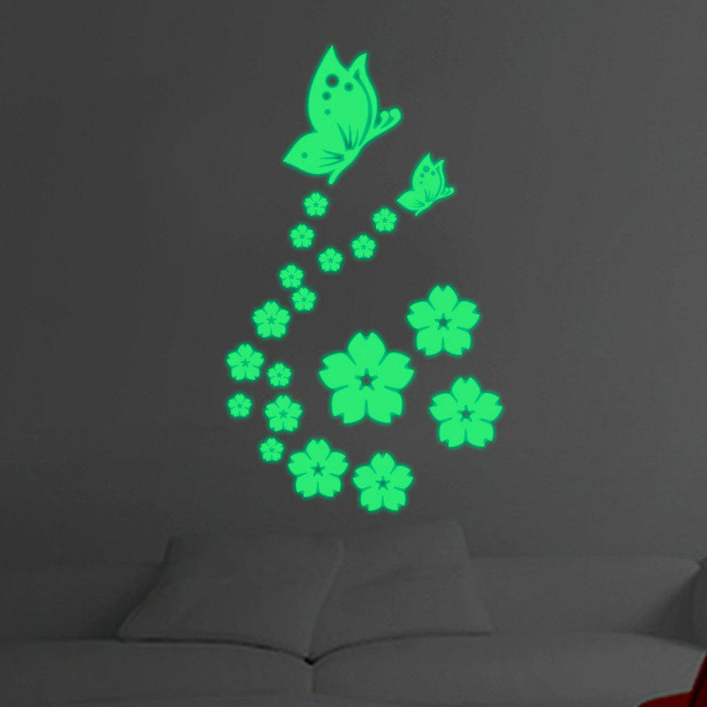 Creative Butterfly Love Flower Luminous Wall Sticker все цены