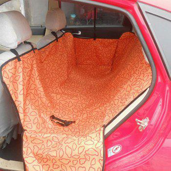 Clouds Pattern Waterproof Car Pet Cushion Automotive Dog Mat - DARK ORANGE