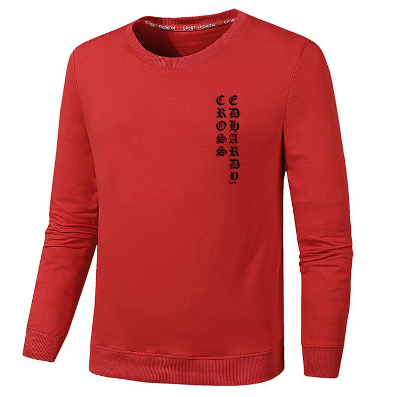 Men's Fashion Sweatershirts - RED XL
