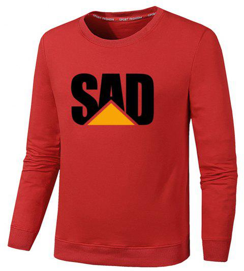 Men's Fashion Print Sweatershirts - RED 4XL