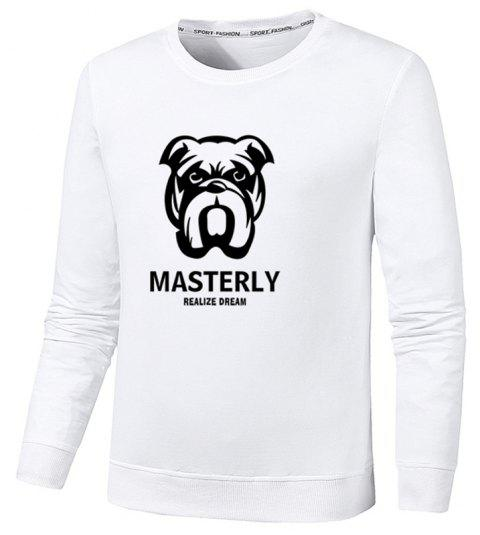 Men's Fashion Dog Print Sweatershirts - WHITE 5XL