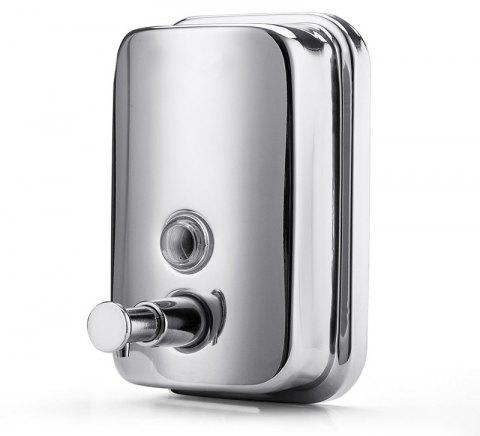800ml  Stainless Steel Manual Wall-Mount Soap Dispenser - multicolor