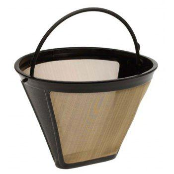 Cone Shape Permanent Coffee Filter 10-12 Cup - BROWN