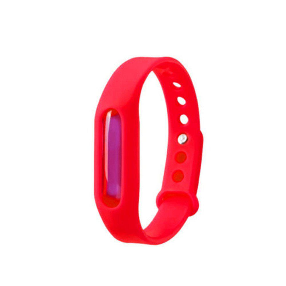 Fashion Summer Mosquito Repellent Bracelet Anti-mosquito Band - RED