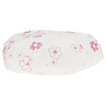 Bath Cap Waterproof Environmental Floral Pattern Shower - PEARL