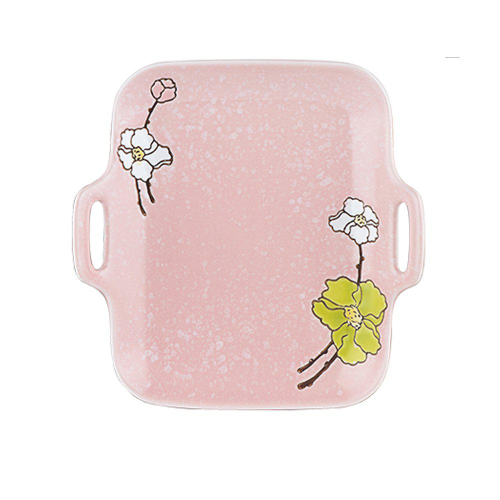 1 Piece Simple Solid Color European Style Dessert Plate - PINK 20*19*2.5