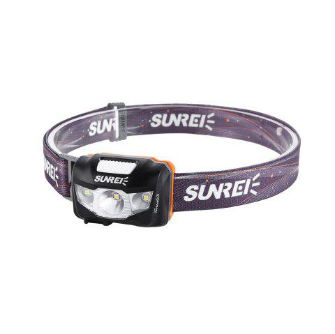 SUNREI Youdo 3 Outdoor Mountaineering Hiking Rechargeable Headlights - BLACK