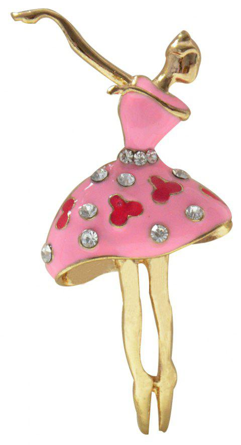 Ballet Dancer Ballerinas Brooches for Women Girls Scarf Coat Pins Hats Corsages - LIGHT PINK
