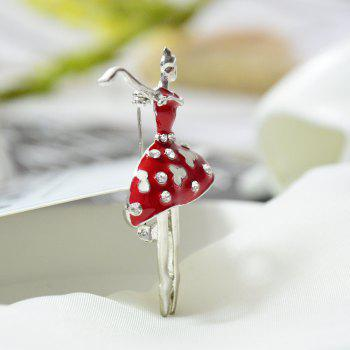 Ballet Dancer Ballerinas Brooches for Women Girls Scarf Coat Pins Hats Corsages - VALENTINE RED