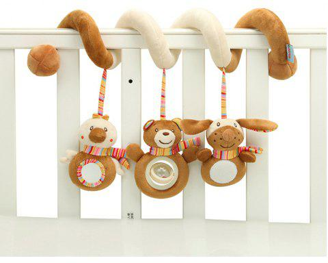 Baby Pram Crib  Design Activity Spiral Plush Toys Stroller and Travel Activity - multicolor A