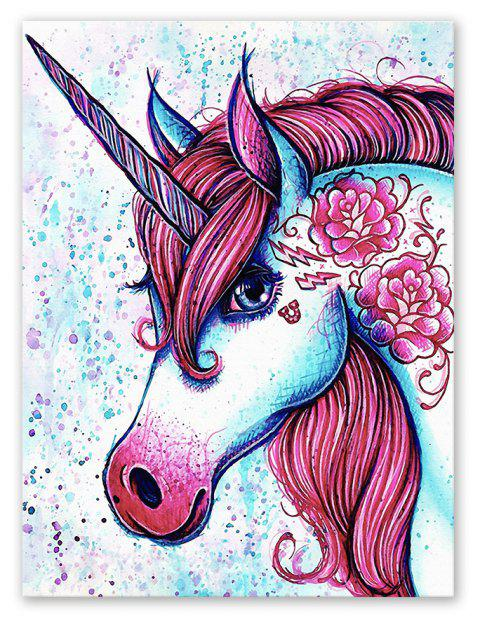 W358 Unicorn Unframed Art Wall Canvas Prints for Home Decorations - multicolor A 1PC:12*16 INCH( NO FRAME )