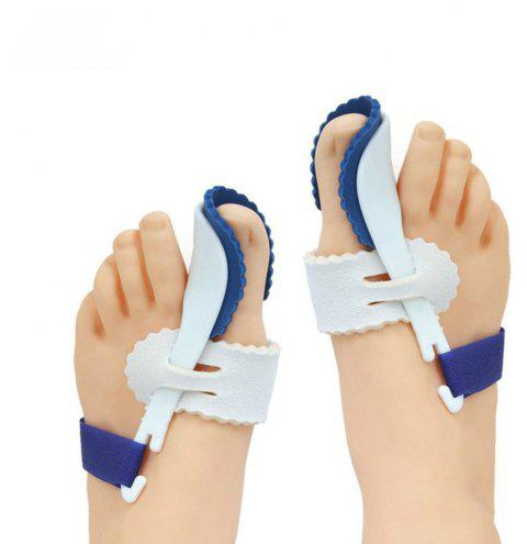 Big Toe Separator Corrector Straightener Bunion Splint 2pcs - BLUE RIBBON