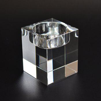 European Style Candle Crystal Glass Home Furnishing Candlestick Decoration - TRANSPARENT SIZE S