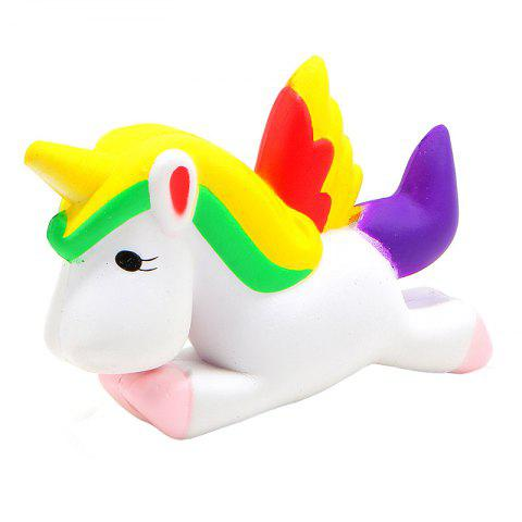 Jumbo Squishy Slow Rebound Simulation Pegasus Unicorn Decompression Toys - multicolor