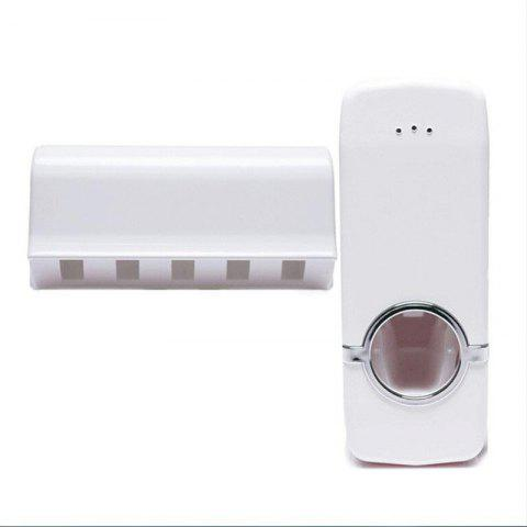 1 Set Tooth Brush Holder Automatic Toothpaste Dispenser - WHITE