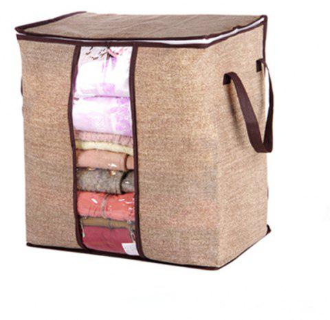 New Non-Woven Portable Clothes Storage Bag - LIGHT BROWN