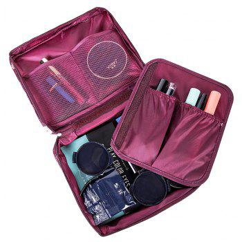 Women's Travel Organization Beauty Cosmetic Make up Storage - RED WINE