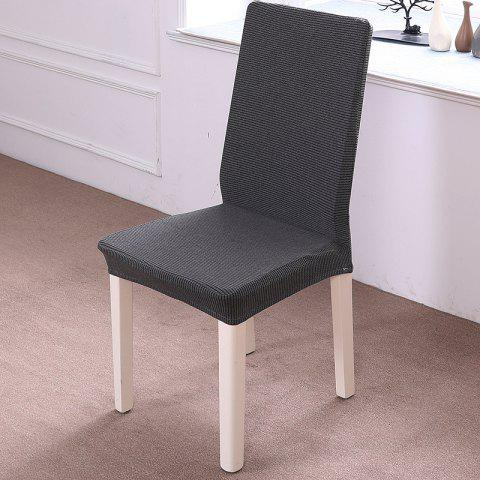 Housse de Chaise Elastique Tricoté Epaissie - Taupe ONE-PIECE CHAIR COVER