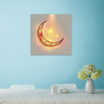 W370 Unique Moon Unframed Wall Canvas Prints for Home Decorations - multicolor A 50CM X 50CM