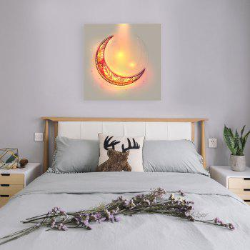 W370 Unique Moon Unframed Wall Canvas Prints for Home Decorations - multicolor A 30CM X 30CM