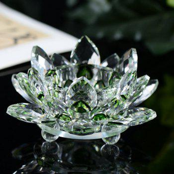 Exquisite Crystal Glass Lotus Candlestick - GREEN