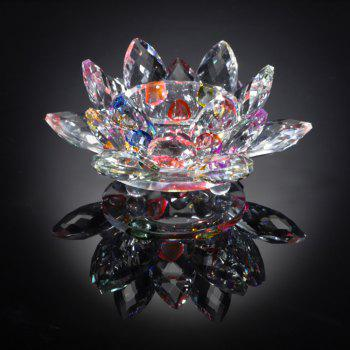 Exquisite Crystal Glass Lotus Candlestick - multicolor A