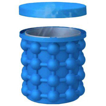 Cube Maker  Silicone Ice Bucket Kitchen Tools Cubes Machine - BLUE