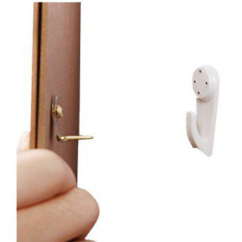 Wall Picture Hooks Invisible Traceless Drywall  Hangers Hanging Frame - WHITE