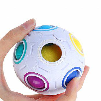 Football Cube Magic Rainbow Ball Puzzle Relief Toys - multicolor