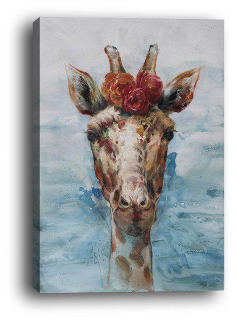 Framed Canvas Modern Living Room Bedroom Giraffe Decorative Print - multicolor 12 X 16 INCH (30CM X 40CM)