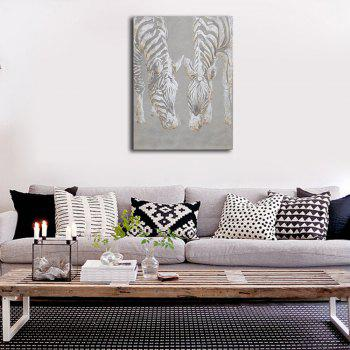 Framed Canvas Bedroom Living Background Decorative Drawing Abstract Zebra Print - multicolor 12 X 16 INCH (30CM X 40CM)