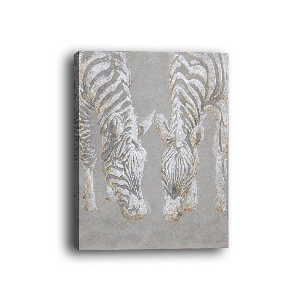 Framed Canvas Bedroom Living Background Decorative Drawing Abstract Zebra Print - multicolor 14 X 20 INCH (35CM X 50CM)