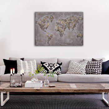 Framed Canvas Bedroom Living Room Wall Abstract Map Decoration Print - multicolor 14 X 20 INCH (35CM X 50CM)