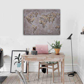Framed Canvas Bedroom Living Room Wall Abstract Map Decoration Print - multicolor 16 X 24 INCH (40CM X 60CM)